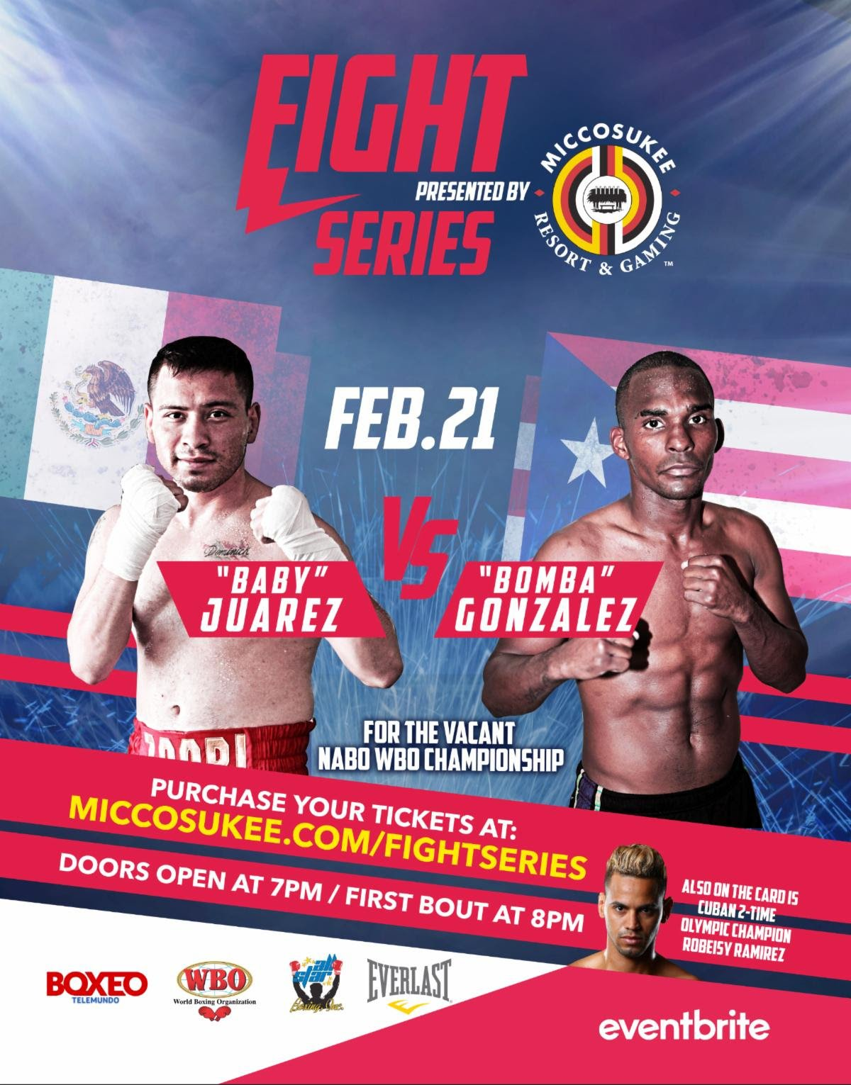 "Jonathan Gonzalez, Saul Juarez -  Boxeo Telemundo returns this Friday to kick off its 31st straight year on air with another chapter in the famed classic ""Puerto Rico vs Mexico"" as WBO #8 WBA #13 Jonathan ""Bomba"" Gonzalez (22-3-1 13 KO's) of Caguas, PR faces WBC #6 WBO #15 Saul ""Baby"" Juarez (25-10-2 13 KO's) of Mexico City, MX."