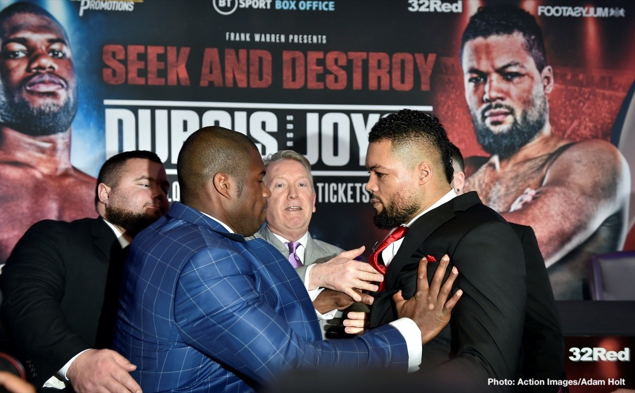 Daniel Dubois - NATHAN GORMAN believes Joe Joyce is capable of upsetting Daniel Dubois in their huge Heavyweight clash, despite what cousin Tyson Fury believes.