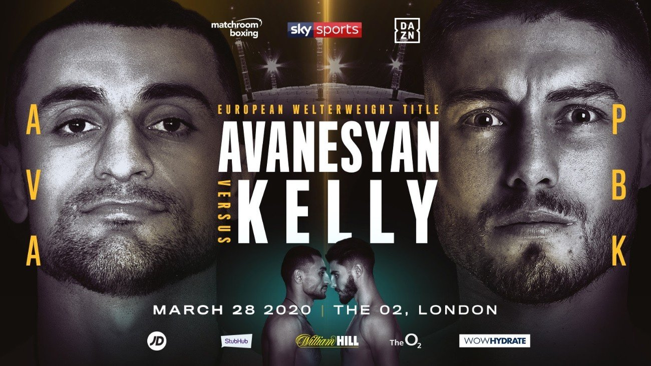 David Avanesyan, Josh Kelly - David Avanesyan will defend his EBU European Welterweight Title against undefeated rising star Josh Kelly in a bitter grudge match at The O2 in London on Saturday March 28, live on Sky Sports in the UK and DAZN in the US.
