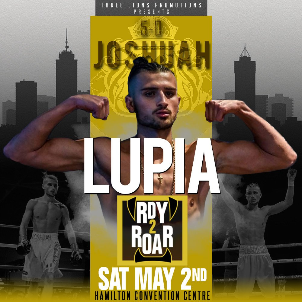 "Bradley Wilcox, Josh Lupia - Three Lions Promotions (TLP) is pleased to announce the addition of Bradley ""The Truth"" Wilcox (9-0-0, 4KOs) of Hamilton and Josh Lupia (5-0-0, 5KOs) of Niagara Falls to the lineup for ""Rdy 2 Roar"" on Saturday, May 2, at the Hamilton Convention Centre. Wilcox was ready for his first title shot back in September, only to have his opponent withdrawn for medical precautions. Lupia was a decorated amateur and remains undefeated as a professional. The card is headlined by Bradley's brother Jessie ""Roc"" Wilcox (15-0-2, 9KOs) against an opponent TBA."