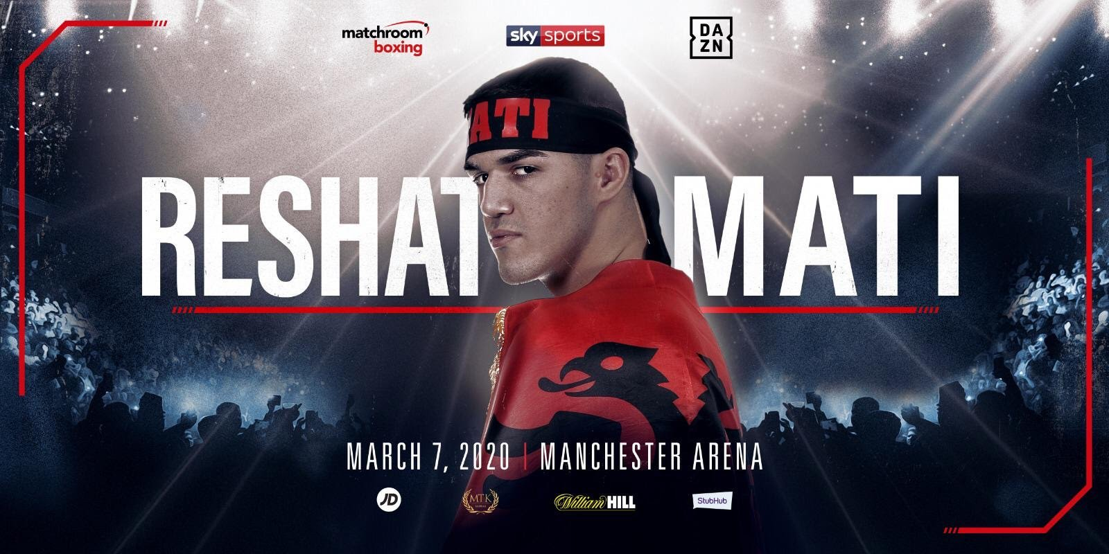 Jono Carroll, Reshat Mati, Scott Quigg - Rising Welterweight starlet Reshat Mati will make his UK debut on the undercard of Scott Quigg vs. Jono Carroll at Manchester Arena on Saturday March 7, live on Sky Sports in the UK and DAZN in the US.