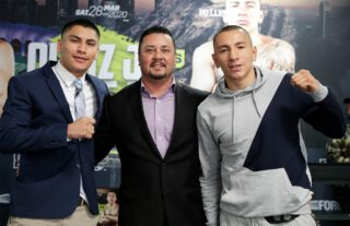 "Azat ""Crazy A"" Hovhannisyan - Vergil Ortiz Jr. (15-0, 15 KOs) and Samuel Vargas (31-5-2, 14 KOs) hosted a press conference today ahead of their 12-round fight for the WBA Gold Welterweight Title. Undercard fighters from the event also participated in the presser. The fight will take place on Saturday, Mar. 28, 2020 at the ""Fabulous"" Forum in Inglewood, Calif. and will be streamed live exclusively on DAZN."