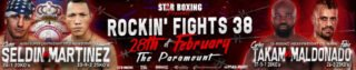 """Alex Vargas - The much anticipated """"Rockin' Fights"""" 38 double main event of hometown hero, CLETUS """"THE HEBREW HAMMER"""" SELDIN (Shirley, Long Island 24-1 20KO's) defending his NABA title against Colombian slugger, HUMBERTO MARTINEZ (33-9-2 25KO'S) as well as top, world-rated heavyweight, CARLOS TAKAM (Henderson, Nevada 37-5-1 28KO's) against heavy-handed combatant FABIO MALDONADO (Sao Paulo, Brazil 26-3 25KO's), has created a buzz in the boxing world."""