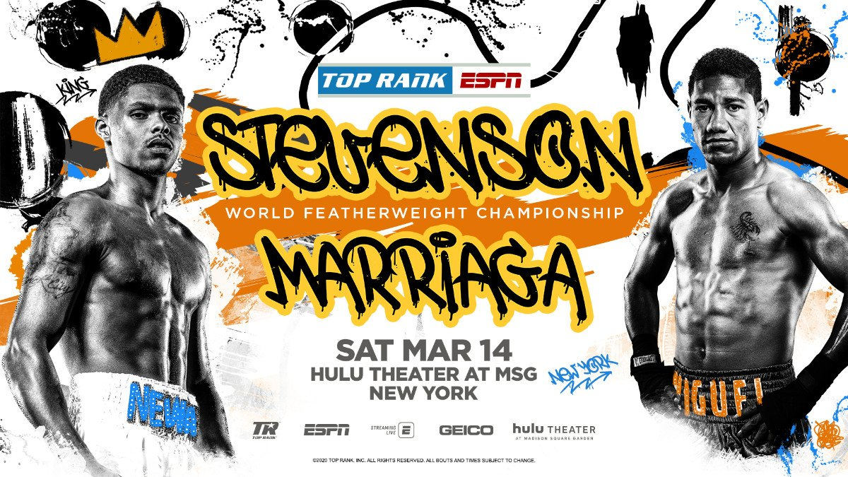 Shakur Stevenson - Shakur Stevenson, the 22-year-old phenom on the cusp of pound-for-pound greatness, will make the first defense of his WBO featherweight world title Saturday, March 14, against three-time world title challenger Miguel Marriaga at Hulu Theater at Madison Square Garden.