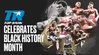 Sugar Ray Leonard - Top Rank has opened up the video vault in honor of Black History Month. Throughout the month, Top Rank's YouTube channel will highlight some of boxing's most memorable nights featuring pugilistic household names such as Ali, Foreman and Hagler. So, grab your favorite snack and hop into a boxing video time machine.
