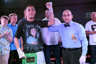 """Apti Davtaev - This past Friday, Thompson Boxing Promotions celebrated its 20th Anniversary in boxing with their signature """"Path to Glory"""" event from the Doubletree Hotel in Ontario, Calif. In the main event, fan-favorite Ruben """"Ace"""" Torres (12-0, 9 KOs) remained undefeated with a spectacular 4th round knockout over Gabino Cota (19-11-2, 17 KOs)."""