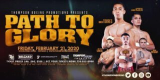 """Gabino Cota, Ruben Torres - Lightweight prospect Ruben """"Ace"""" Torres (11-0, 9 KOs), will headline Thompson Boxing's """"Path To Glory"""" event on Friday, Feb. 21st, from the Doubletree Hotel in Ontario, Calif."""