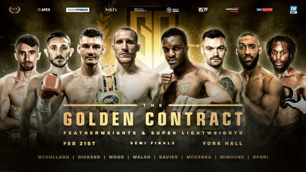 Jazza Dickens, Leigh Wood, Mohamed Mimoune, Ohara Davies - York Hall plays host to a colossal night of boxing tonight as the #GoldenContract semi-finals take place – live on Sky Sports in the UK in association with Matchroom Boxing and on ESPN+ in the US in association with Top Rank.