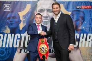 """Josh Warrington - """"I am very proud and very happy to welcome the No.1 Featherweight in the world back to Matchroom, Sky Sports and DAZN. It's funny how life works out, it was a conversation I had with Steve Wood and I asked him, """"When's Warrington out of contract again?"""", and it all went from there."""