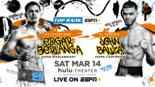 Edgar Berlanga - Berlanga to highlight Shakur Stevenson vs. Miguel Marriaga undercard from Hulu Theater at Madison Square Garden