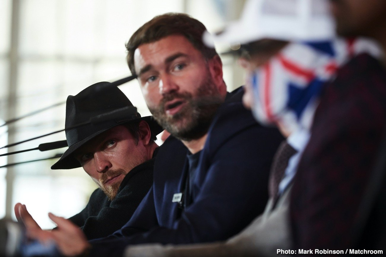 Dereck Chisora, Eddie Hearn, Oleksandr Usyk - Fans will need to wait until October before they get a chance to see the mouth-watering heavyweight match between Oleksandr Usyk and Dereck Chisora. Eddie Hearn revealed yesterday that he plans on staging the Usyk vs. Chisora fight in October.