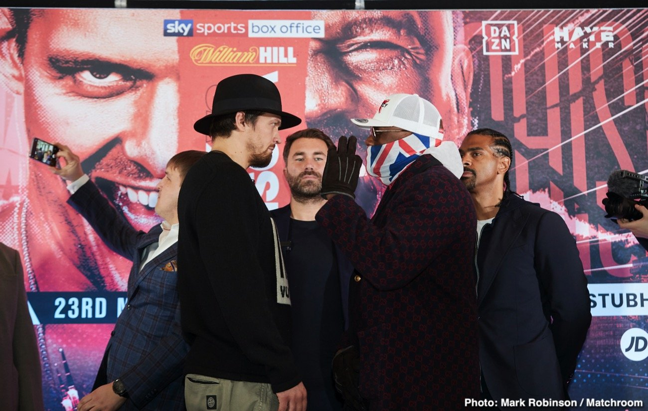 Alexander Usyk, David Haye, Derek Chisora - David Haye sees trouble ahead for Oleksander Usyk when he puts his WBO heavyweight mandatory status on the line against Dereck Chisora (32-9, 23 KOs). Usyk (17-0, 13 KOs) wanted to get a tune-up in before he challenges IBF/WBA/WBO champion, Anthony Joshua.