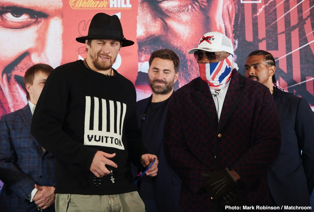 Alexander Usyk, Carl Froch, Derek Chisora - Carl Froch says heavyweight Dereck Chisora will show whether Oleksandr Usyk belongs in the heavyweight division or not in their fight on October 31st at the Wembley Arena in Wembley, UK.