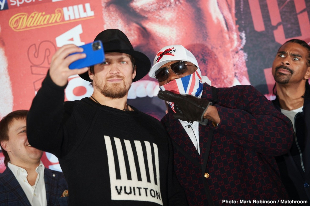 David Haye, Dereck Chisora, Oleksandr Usyk - David Haye sees trouble ahead for Oleksander Usyk when he puts his WBO heavyweight mandatory status on the line against Dereck Chisora (32-9, 23 KOs). Usyk (17-0, 13 KOs) wanted to get a tune-up in before he challenges IBF/WBA/WBO champion, Anthony Joshua.