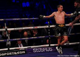 Anthony Fowler, Hughie Fury, Jono Carroll, Pavel Sour, Rohan Murdock, Scott Quigg, Zach Parker - Dublin's Jono Carroll produced a career-best performance to stop former World Champion Scott Quigg at Manchester Arena, live on Sky Sports in the UK and DAZN in the US.