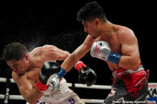 Mikey Garcia - Mikey Garcia (40-1, 30 KOs) got off to a slow start but then rallied to defeat the bigger former 2 division world champion Jessie Vargas (29-3-2, 11 KOs) by a 12 round unanimous decision to win the WBC Diamond welterweight title on Saturday night at The Ford Center at The Star in Frisco, Texas. The scores were 114-113, 116-111, 116-111