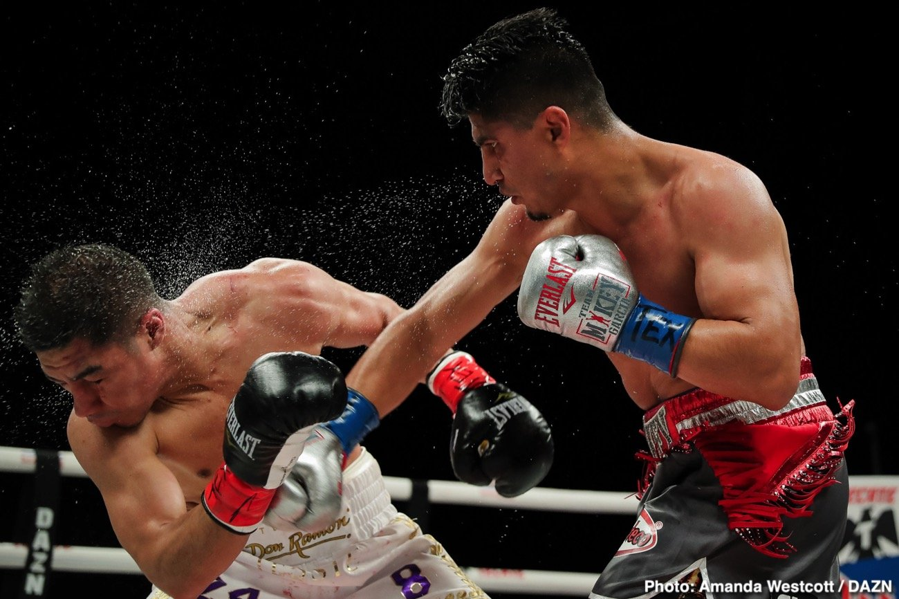 Boxing Results - Mikey Garcia (40-1, 30 KOs) got off to a slow start but then rallied to defeat the bigger former 2 division world champion Jessie Vargas (29-3-2, 11 KOs) by a 12 round unanimous decision to win the WBC Diamond welterweight title on Saturday night at The Ford Center at The Star in Frisco, Texas. The scores were 114-113, 116-111, 116-111