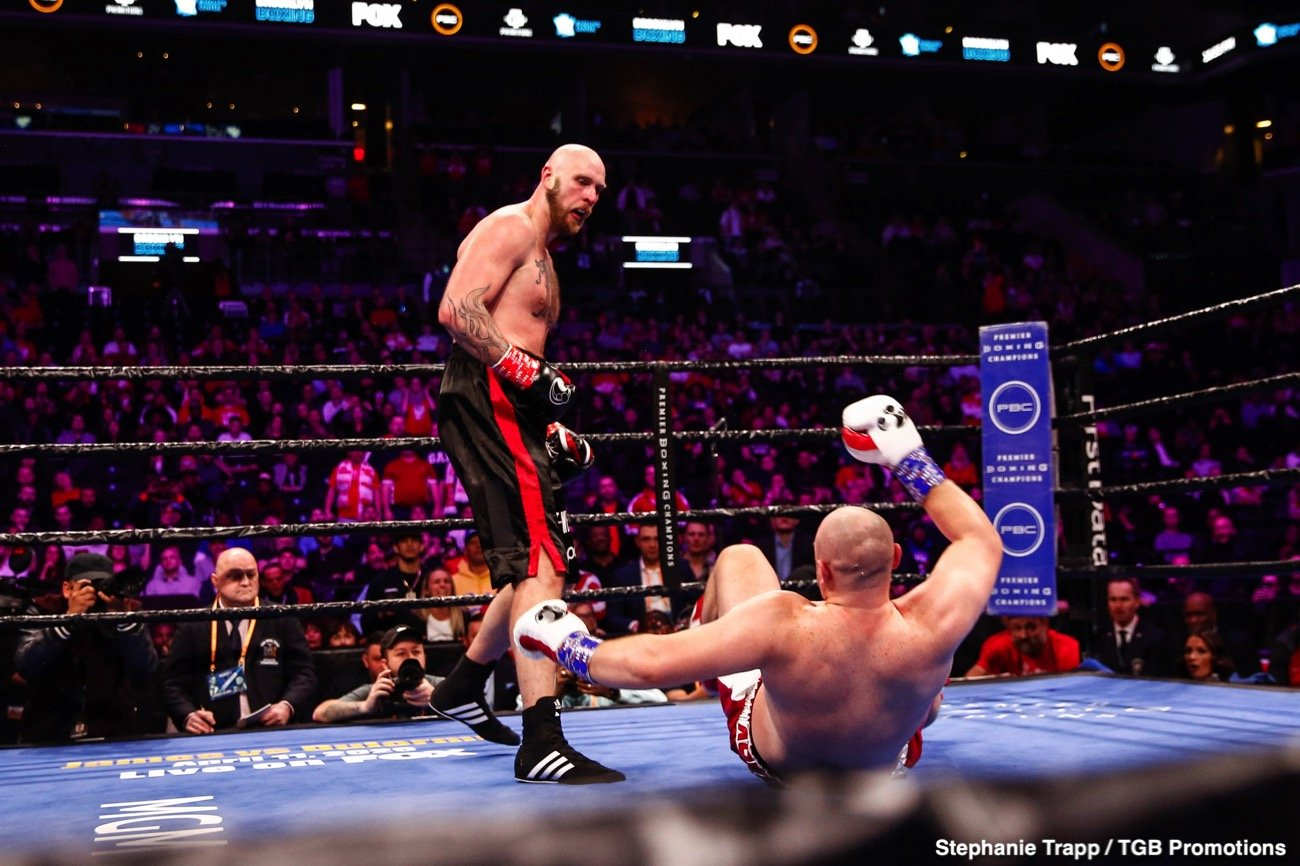 Boxing Results - Robert Helenius (30-3, 19 KOs)scored an upset victory over previously unbeaten Adam Kownacki (20-1, 15 KOs) by stopping him in the fourth round of a WBA Heavyweight Title Eliminator headlining FOX PBC Fight Night and on FOX Deportes Saturday night from Barclays Center, the home of BROOKLYN BOXING™.