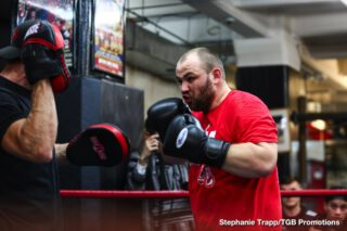 Adam Kownacki - Undefeated Polish star and Brooklyn native Adam Kownacki and Robert Helenius took part in a fight week media workout Wednesday before they meet in a WBA Heavyweight title eliminator headlining FOX PBC Fight Night and on FOX Deportes this Saturday, March 7 from Barclays Center, the home of BROOKLYN BOXING™.
