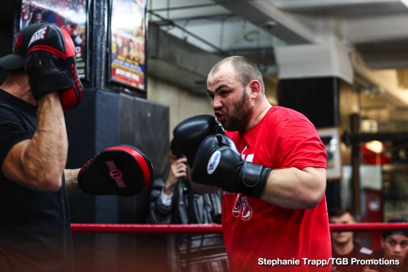 Robert Helenius - Undefeated Polish star and Brooklyn native Adam Kownacki and Robert Helenius took part in a fight week media workout Wednesday before they meet in a WBA Heavyweight title eliminator headlining FOX PBC Fight Night and on FOX Deportes this Saturday, March 7 from Barclays Center, the home of BROOKLYN BOXING™.