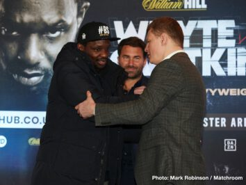 "Alexander Povetkin, DAZN, Dillian Whyte - ""What a fight! Dillian Whyte against Alexander Povetkin for the WBC Interim World Heavyweight Championship live and exclusive on Sky Sports Box Office. The response to this fight in the last 24 hours has been incredible and we'll talk more about the fight and of course the importance of the Heavyweight division right now which will always be the flag bearer for the professional code. Three months ago, all of the belts with the PBC in America, now, of course, all of those belts in Britain with Tyson Fury and Anthony Joshua."