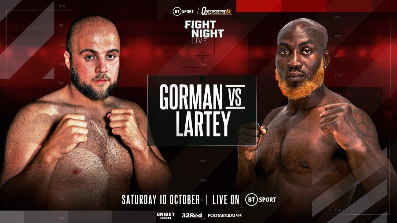 Nathan Gorman, Richard Lartey - British Boxing