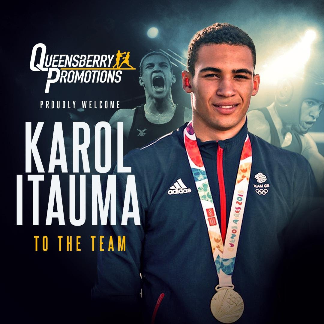 Karol Itauma - EIGHT-TIME NATIONAL champion and Youth Olympic gold medallist Karol Itauma is set to turn professional with Frank Warren and fight under the Queensberry Promotions banner.
