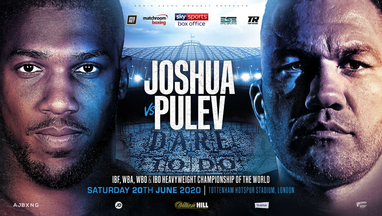 Kubrat Pulev - Unified Heavyweight Champion of the World Anthony Joshua OBE will defend his IBF, WBA, WBO and IBO World Titles against Mandatory Challenger Kubrat Pulev at the Tottenham Hotspur Stadium on Saturday, June 20, live on Sky Sports Box Office, on a show promoted by Matchroom Boxing in association with Top Rank and Epic Sports and Entertainment.