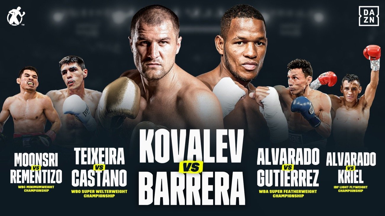 Sergey Kovalev - APRIL 25 SERGEY KOVALEV VS. SULLIVAN BARRERA EVENT CANCELLED DUE TO COVID-19