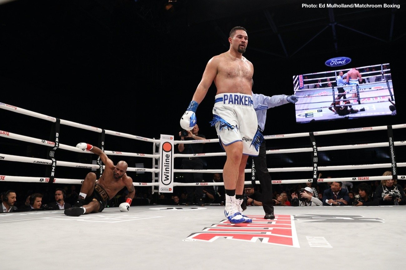 Former WBO heavyweight champ Joseph Parker got his 2020 underway in exciting style last night on the stacked card in Frisco, Texas headlined by Mikey Garcia against Jessie Vargas. The New Zealander was facing a relative unknown, and a natural cruiserweight, in Shawndell Winters (who weighed-in at 208 pounds for the fight, to Parker's 245), but Parker got the job done in style, scoring an eye-catching KO.