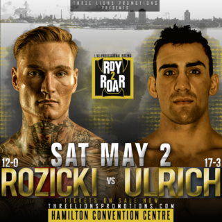 """Ryan Rozicki - There's something rumbling in from the nor'east! It rolled through Cape Breton Island back in February, knocking poor Vladimir Reznicek (9-3-2, 4KOs) flat on his back. A wicked storm is churning away, getting stronger with each obstacle it engulfs. Next stop, Hamilton, Ontario. That force of nature, conquering men from all corners of the world, is WBC International Silver Cruiserweight Champion Ryan """"Bruiser"""" Rozicki (12-0-0, 12KOs). The fighting pride of Sydney Forks, Nova Scotia, Rozicki returns to the ring on May 2 to face former WBC Latino Cruiserweight Champion Jose Gregorio Ulrich (17-3-0, 6KOs) of María Juana, Santa Fe, Argentina, at the Hamilton Convention Centre."""