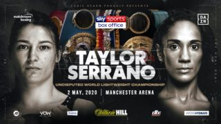 Amanda Serrano - Katie Taylor and Amanda Serrano will collide in a blockbuster super fight at Manchester Arena on May 2 as the Irish legend puts her Lightweight World Titles on the line against Puerto Rico's seven-weight World Champion, live on Sky Sports Box Office.