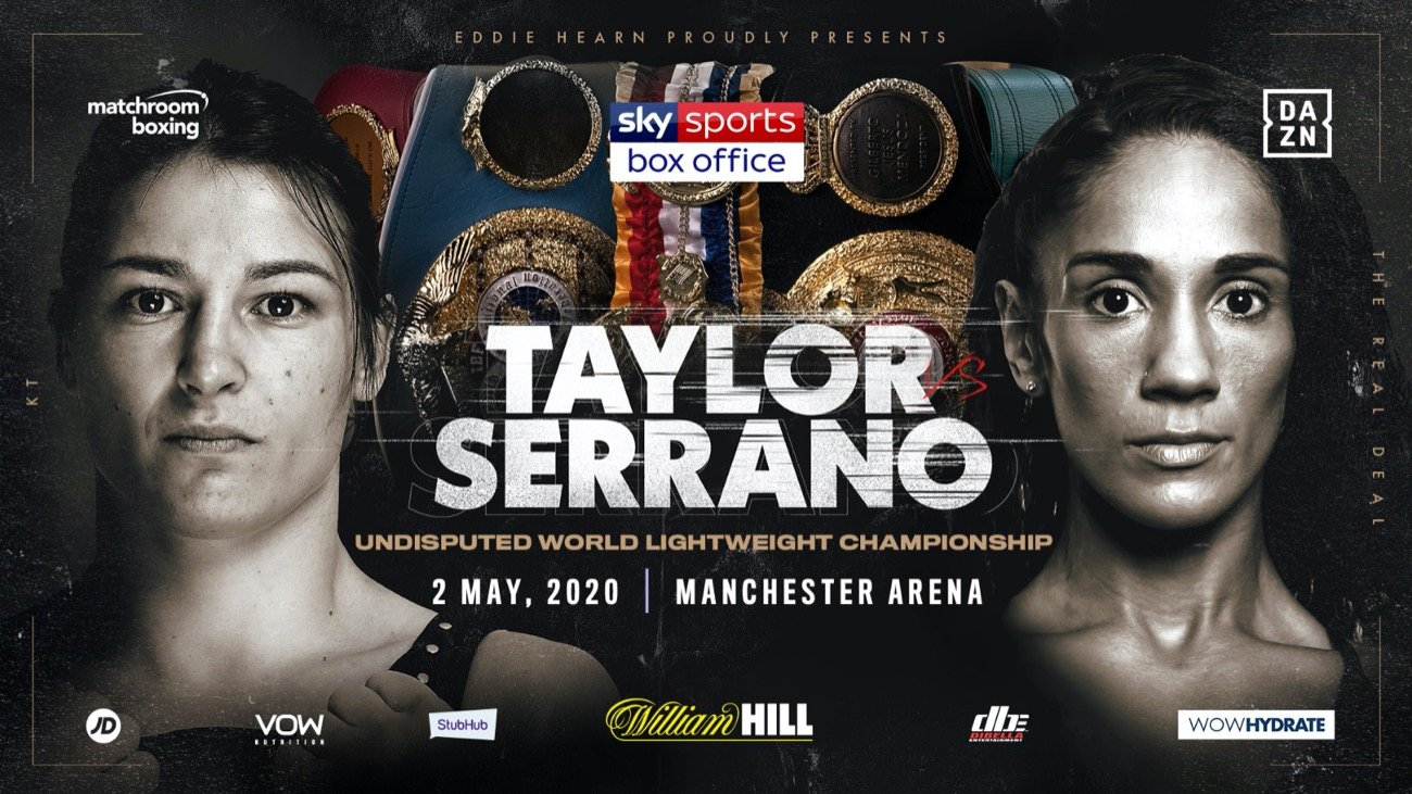 Katie Taylor - Katie Taylor and Amanda Serrano will collide in a blockbuster super fight at Manchester Arena on May 2 as the Irish legend puts her Lightweight World Titles on the line against Puerto Rico's seven-weight World Champion, live on Sky Sports Box Office.