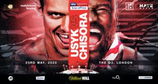 Alexander Usyk - Oleksandr Usyk (17-0, 13 KOs) will be putting his WBO heavyweight mandatory spot at huge risk in two months from now on May 23 against Dereck Chisora (32-9, 23 KOs) on Sky Sports Box Office at the O2 Arena in London, England. While Usyk is supposed to win this fight, you can't rule out a victory for the 36-year-old Chisora.