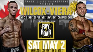 """Andres """"Viera, Jessie Wilcox - On Saturday, May 2, Three Lions Promotions (TLP) presents Hamilton's own Jessie """"Roc"""" Wilcox (15-0-2, 9KOs) in a ten round clash for the WBC USNBC Super Welterweight Championship against Andres """"Pitufo"""" Viera (10-2-0, 8KOs) of Mercedes, Uruguay, at the Hamilton Convention Centre. """"It's always great when it's an international contest like this,"""" explained TLP Managing Director Daniel Otter. """"Both guys want to perform well for their respective countries. The winner will improve their standing in the WBC rankings, moving one step closer to the world champs."""""""