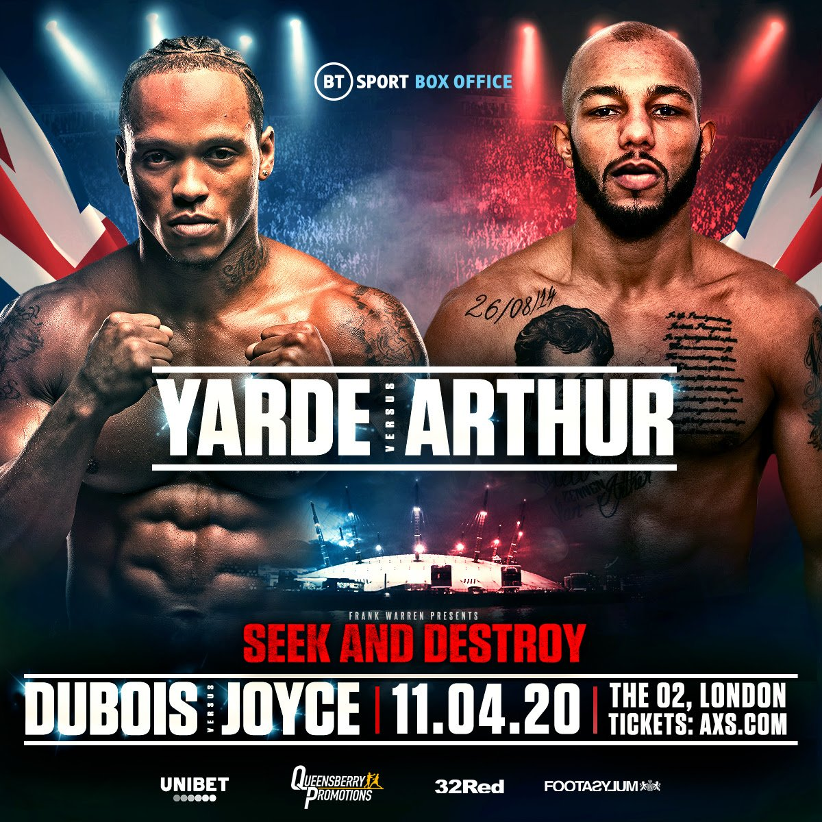 THE EAGERLY ANTICIPATED 'Seek and Destroy' showdown between Daniel Dubois and Joe Joyce at the o2 Arena on April 11 now has a blockbuster chief support in place with Anthony Yarde set to take on the unbeaten Lyndon Arthur.