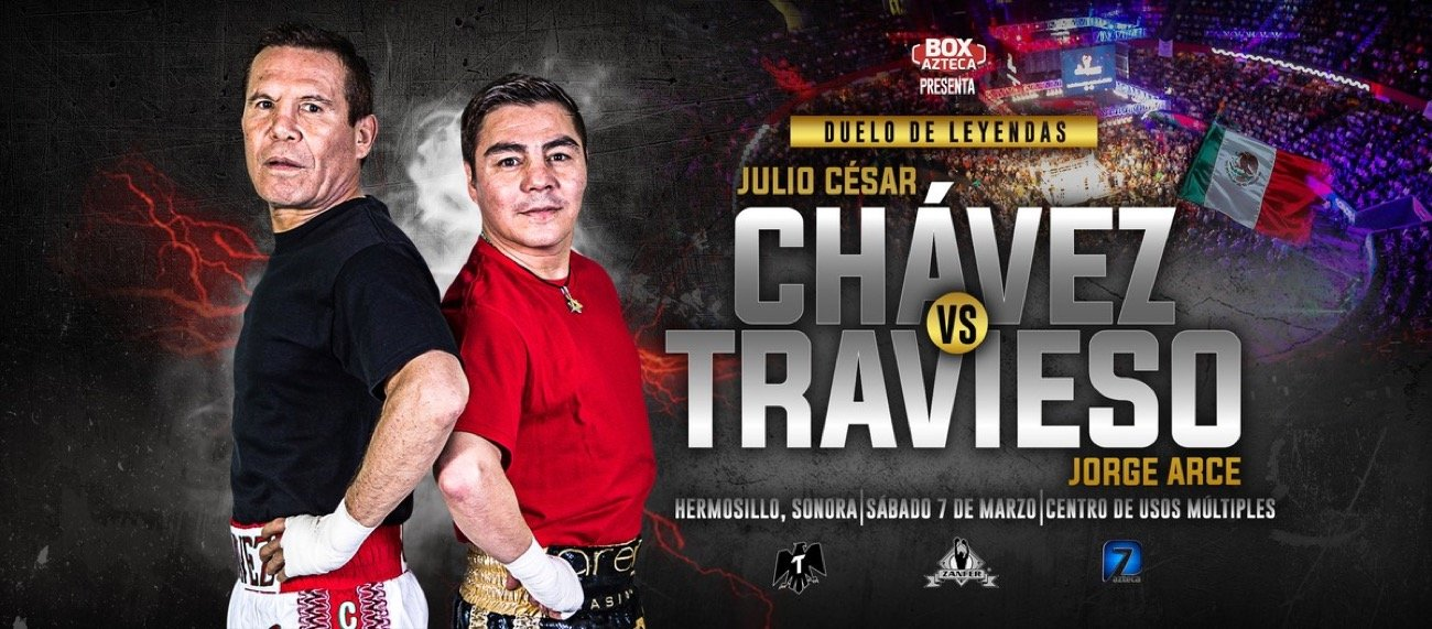 Julio Cesar Chavez - They both may have been retired for years, they may both be many years past their prime, but Mexican legends Julio Cesar Chavez and Jorge Arce proved on Saturday night that they can still pull in a big crowd, and they can still fight. For three exciting rounds, anyway.