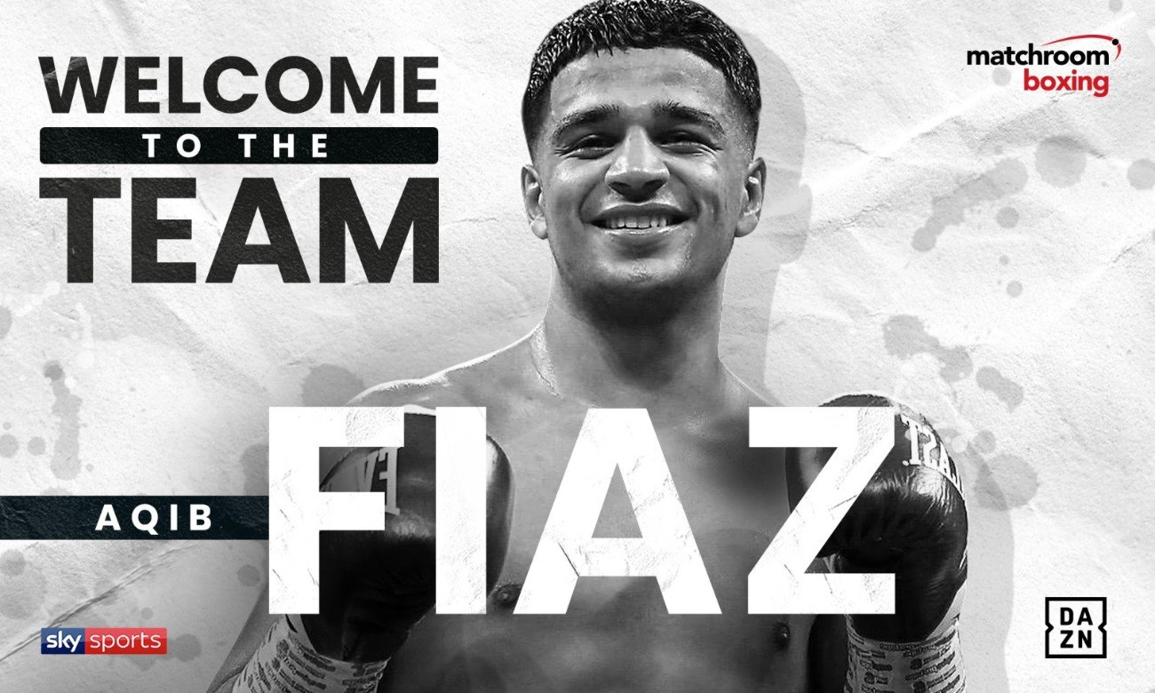Aqib Fiaz - Rising Super-Featherweight prospect Aqib Fiaz has signed a multi-fight promotional deal with Eddie Hearn's Matchroom Boxing.