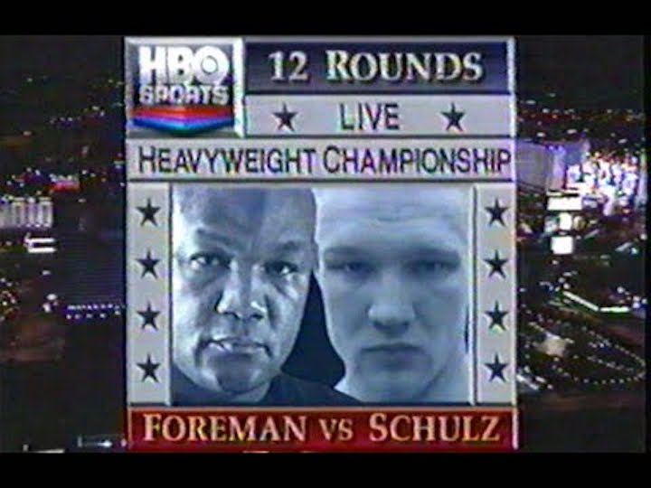 Axel Schulz, George Foreman - Schulz, young and ambitious and also a complete mystery of a fighter to anyone outside of his native Germany, had a good enough record at 21-1-1 (the loss coming on points to Henry Akinwande, so too the draw) but everyone expected Foreman to blow him out, perhaps then head into a super-duper-big-mac-fight with Mike Tyson. It didn't happen.