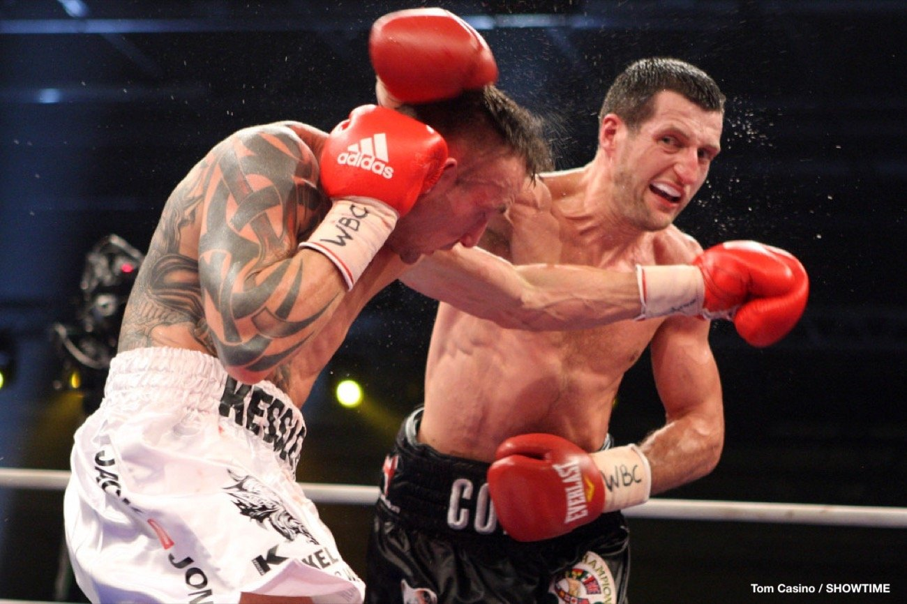 "Carl Froch, Mikkel Kessler - A decade ago today in Denmark, super-middleweight rivals Mikkel Kessler and Carl Froch met and thrilled fans with a great 12 round fight that was full of action. The two men were fighting for both the WBC title, held by ""The Cobra,"" as well as a chance to win the ongoing World Boxing Classic ""Super-Six"" tournament trophy."