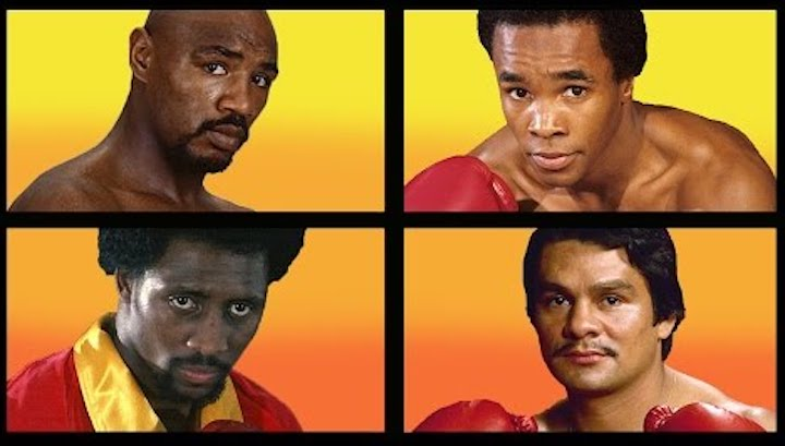 "Marvin Hagler, Roberto Duran, Sugar Ray Leonard, Thomas Hearns - If the great Roberto Duran-Sugar Ray Leonard fight of June of 1980 wasn't special enough, this titanic battle was the very first super-fight in the nine-fight series four legendary lower weight fighters would thril the planet with throughout the decade. Yes, in June of 1980, in Montreal Canada, ""The Four Kings"" were born."