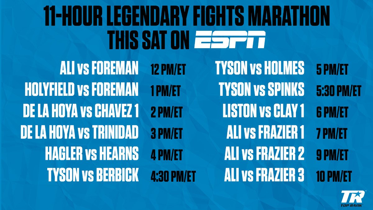 Muhammad Ali - Muhammad Ali-Joe Frazier Trilogy Headlines Special Encore Boxing Presentation on ESPN