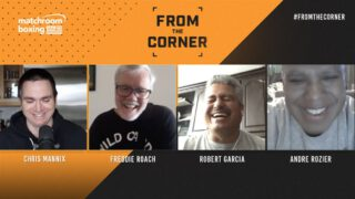 Andre Rozier - Star trainers Freddie Roach, Robert Garcia, and Andre Rozier join Chris Mannix in a new show on Matchroom Boxing's YouTube channel as they view the COVID-19 pandemic and the return of the sport 'From The Corner'.