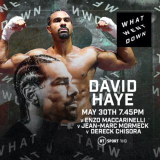 David Haye - Starting with David Haye, What Went Down is a brand new short series of boxing shows on BT Sport, featuring boxers looking back at their classic fights.