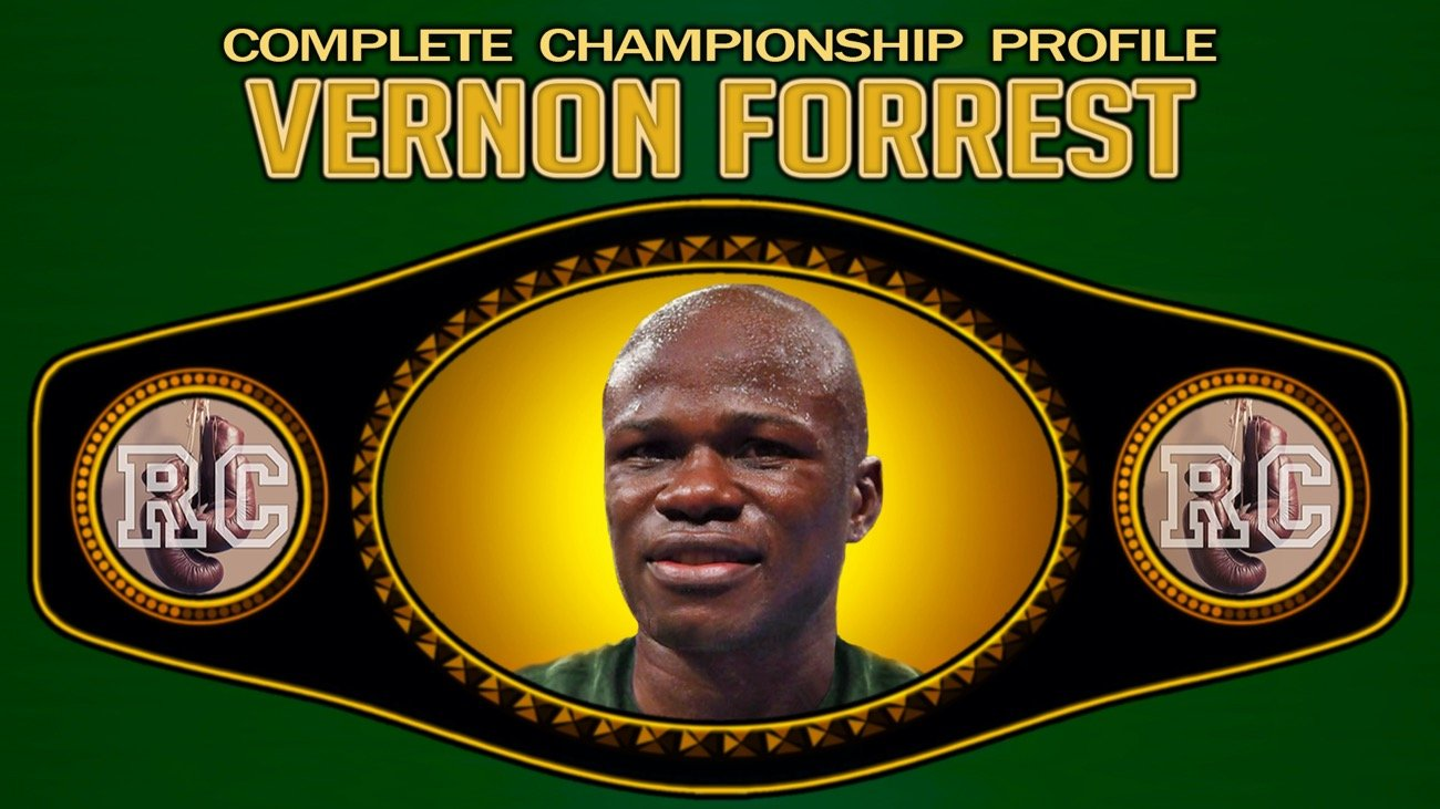 Vernon Forrest - During his outstanding career Veron Forrest was a two time world boxing champion in both the welterweight and junior middleweight divisions.