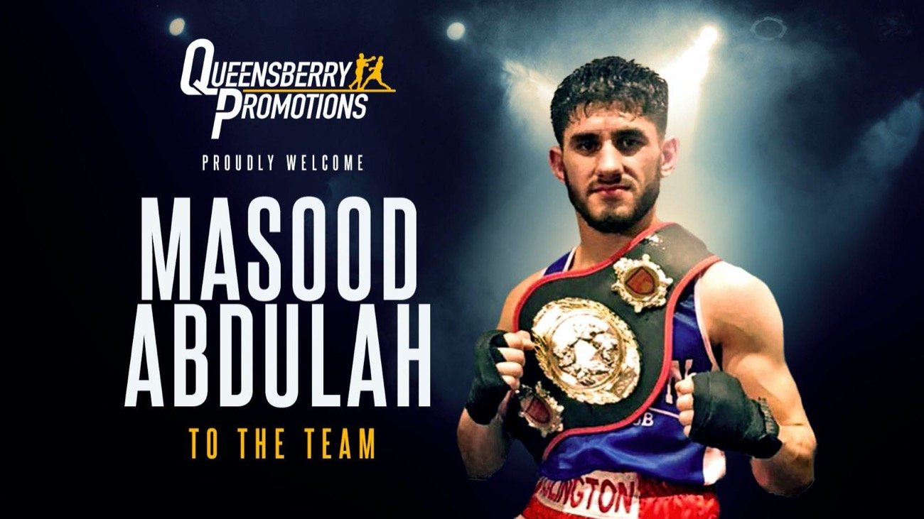 Masood Abdulah - NATIONAL AMATEUR LIGHTWEIGHT champion Masood Abdulah is set to turn professional under the promotional guidance of Frank Warren and Queensberry Promotions.