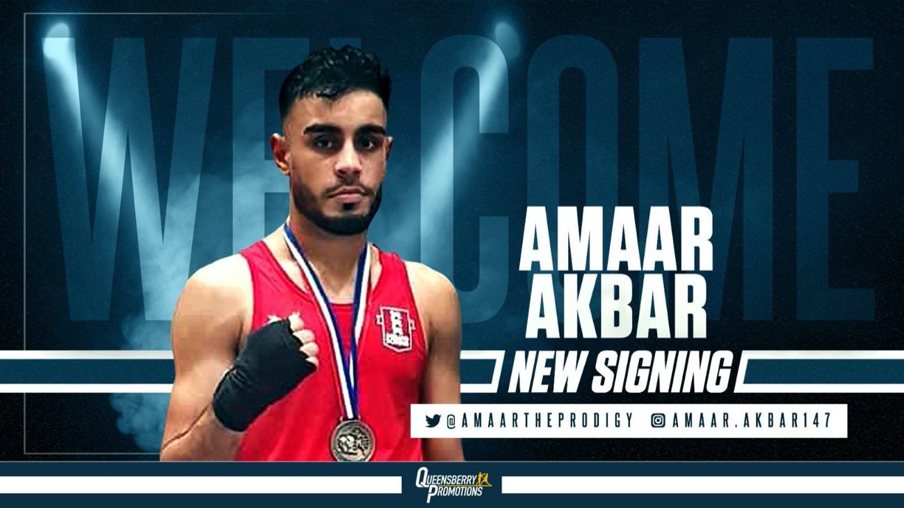 Amaar Akbar - OUTSTANDING AMATEUR TALENT Amaar Akbar has joined forces with Frank Warren to launch his professional career under the Queensberry Promotions banner.