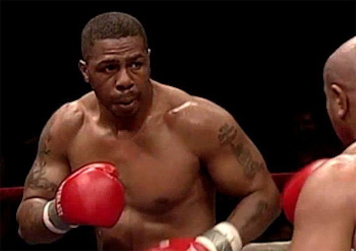 """Monte Barrett - The term, roller-coaster career is a commonly used one yet it is wholly appropriate in describing the fun and largely exciting ring exploits skilled New York slugger Monte Barrett engaged in over his 18 years in the pro ring. Known as """"Two Gunz,"""" Barrett, not an especially large heavyweight, would go down, get back up, give his all, and he would often follow up a poor performance with an impressive one; sometimes a career reviving one."""
