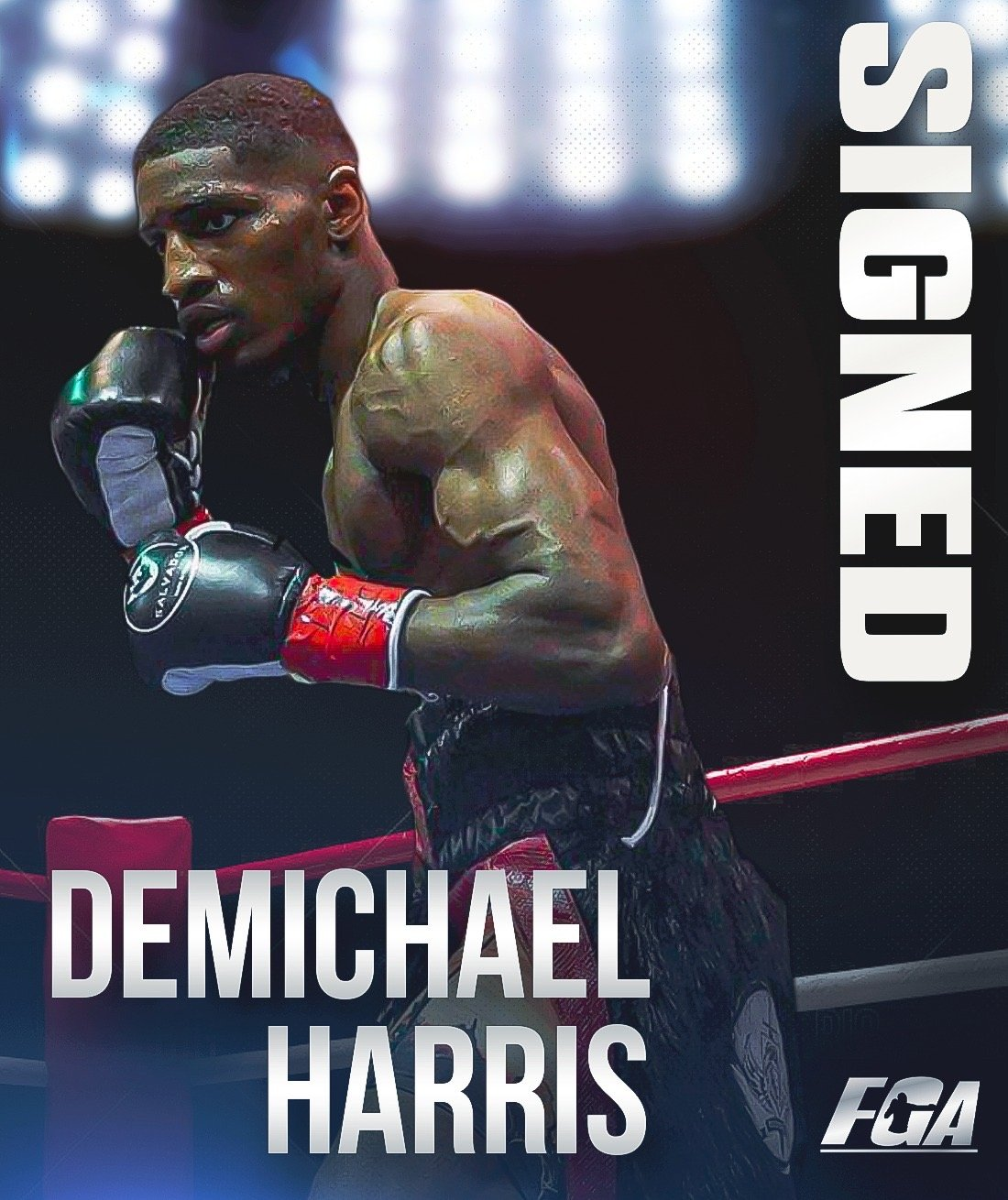 DeMichael Harris - Peter Kahn's Fight Game Advisors has announced the signing of heralded super featherweight prospect DeMichael Harris, 3-0, 3 KOs), of Atlanta, Georgia.