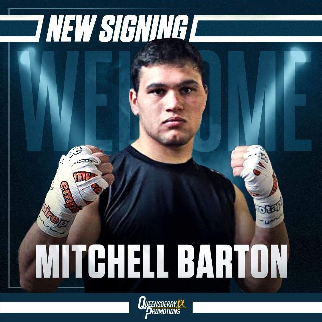 Mitchell Barton - TOP HEAVYWEIGHT PROSPECT Mitchell Barton has officially joined Frank Warren's Queensberry Promotions, as he prepares to make his professional debut.